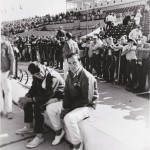 Bill Vukovich Jr 1968  Sitting on the pit wall.