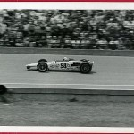 Bill Vukovich Jr. 1968 on front straight