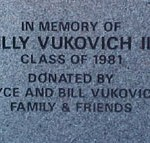 Billy Vukovich III at his high school.