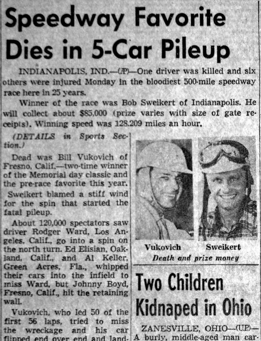 Car Crash Newspaper Articles